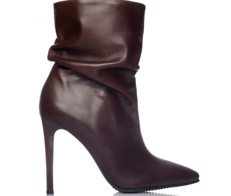 botine stiletto botine toc cui ghete dama stiletto piele naturala