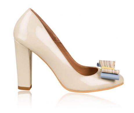 pantofi dama pantofi piele naturala cu fundita