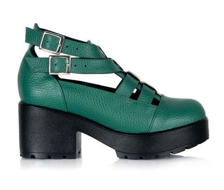 sandale vintage sandale retro sandale piele sandale verzi