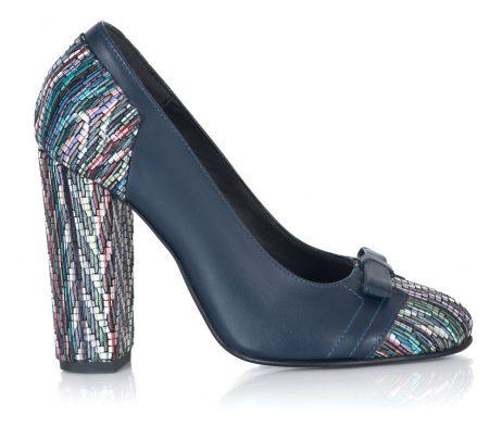 pantofi piele naturala pantofi femei bleumarin