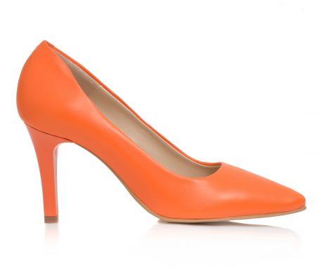 pantofi stiletto pantofi la comanda pantofi portocaliu pantofi orange
