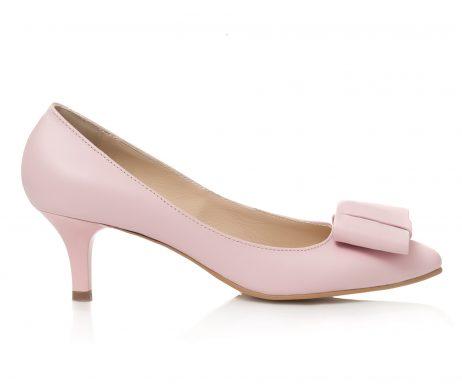 pantofi din piele pantofi cu fundita pantofi nude